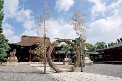 くぐり 京都 茅の輪 【無病息災】茅の輪(ちのわ)くぐりはじめました